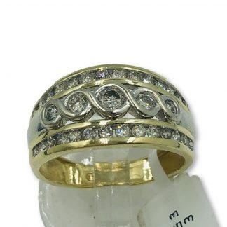 9ct Yellow Gold Diamond Designer Ring