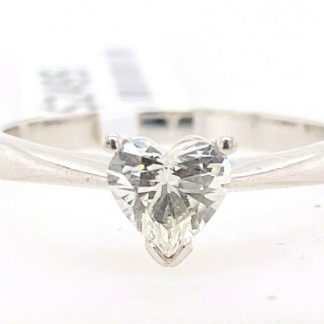 Platinum 0.54ct Diamond Solitaire Ring with Valuation