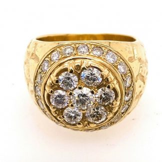 9ct Yellow Gold 2.20cts Diamond Ring With Valuation