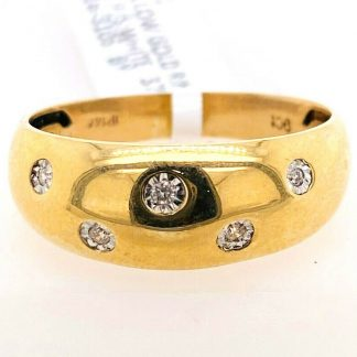 9ct Yellow Gold Pearl & Diamond Ring