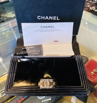 Chanel Patent Leather Boy Wallet