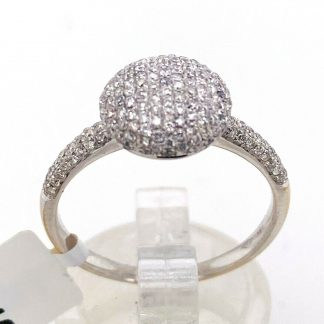 18ct White Gold 175 Diamond Cluster Ring with Valuation