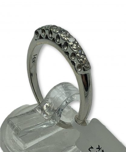 14ct White Gold 7 Diamond Ring