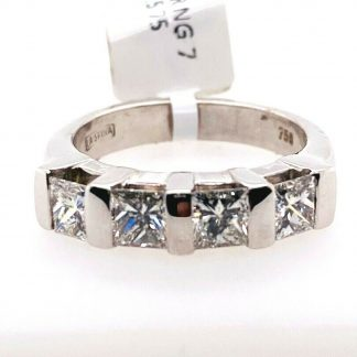 18ct White Gold 1.40ct Diamond Ring with Valuation