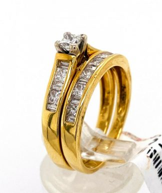 18ct Yellow Gold Diamond Bridal Set with Valuation
