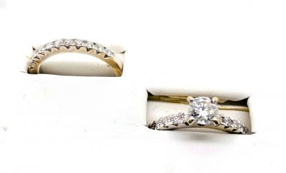18ct White Gold Diamond Bridal Ring Set with Valuation