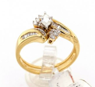 14ct Yellow Gold 20 Diamond Ring Set
