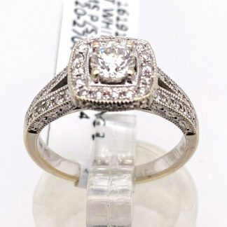 14ct White Gold Diamond Ring with Valuation