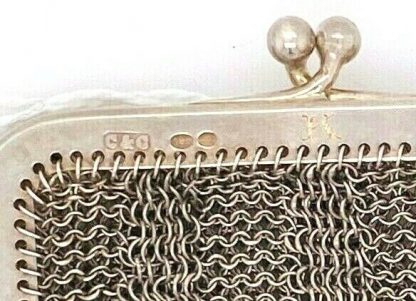 Antique Sterling Silver Mesh Coin Purse & Evening Bag Set