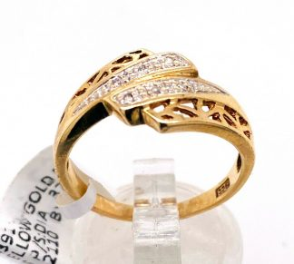 9ct Yellow Gold Diamond Cluster Ring