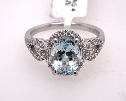 18ct White Gold Diamond Cluster Ring with Valuation