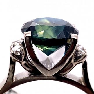 14ct Yellow Gold Emerald & Diamond Ring with Valuation