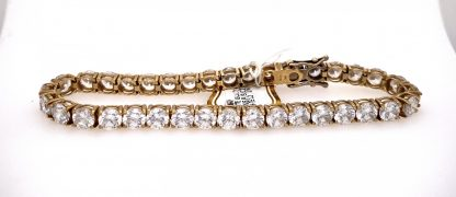 9ct Yellow Gold CZ Tennis Bracelet