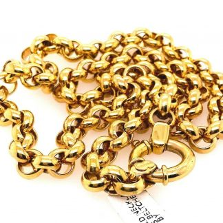 9ct Yellow Gold Belcher Link Necklace
