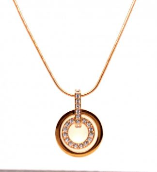 Swarovski Rose Gold Tone & Crystal Necklace