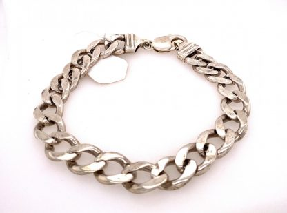 Sterling Silver Belcher Link Necklace with Bolt Clasp