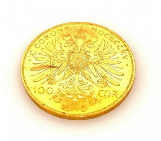 1915 Austrian Gold .9802 Proof Corona Coin
