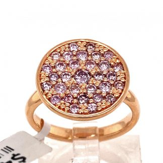 18ct Rose Gold Pink Diamond Ring with Valuation