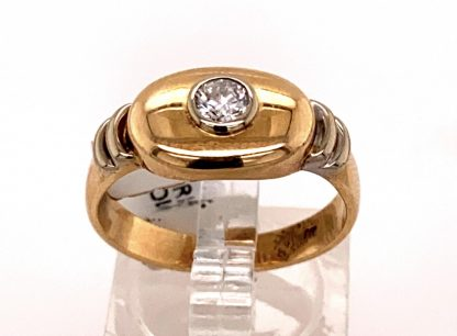 9ct Yellow Gold Diamond Bangle with Valuation