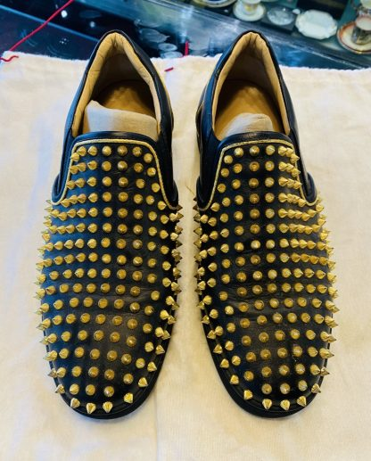 Christian Louboutin Men's Spike Boat Shoes