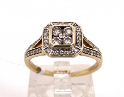 9ct Yellow Gold 48 Diamond Ring