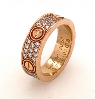 18ct Rose Gold 66 Diamond Love Ring