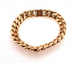 17ct Yellow Gold Curb Link Bracelet