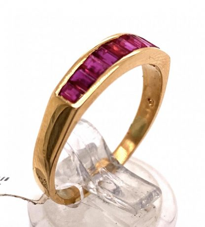 18ct Yellow Gold Ruby Channel Set Ring