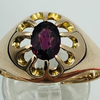 Vintage 9ct Solid Rose Gold Gypsy Ring