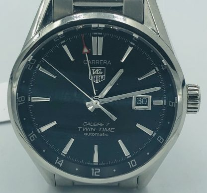 Tag Heuer Calibre 7 Twin Time Automatic Watch WAR2010-1