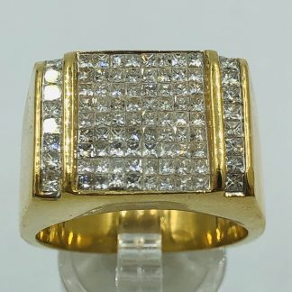 18ct Yellow Gold 1.00ct Mens Diamond Ring with Valuation