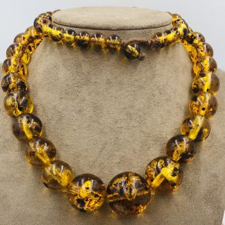 Natural Amber Graduating Bead Necklace