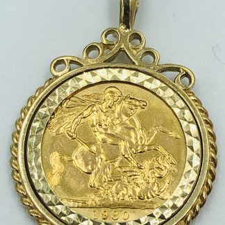 22ct Yellow Gold 1980 Sovereign Coin Pendant