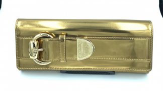 Gucci Romy Gold Buckle Clutch
