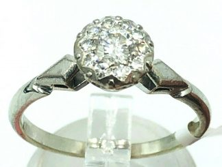 Vintage 18ct White Gold Diamond Ring