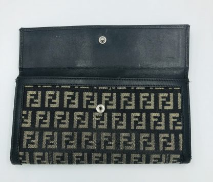 Fendi Zucchino Canvas Forever Continental Wallet