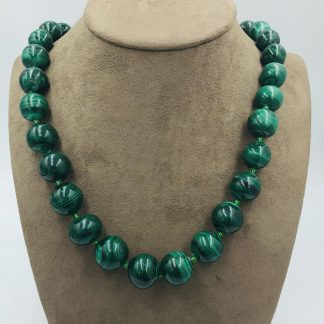 Natural Malachite Graduating Necklace