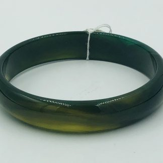 Natural Dark Green Agate Bangle