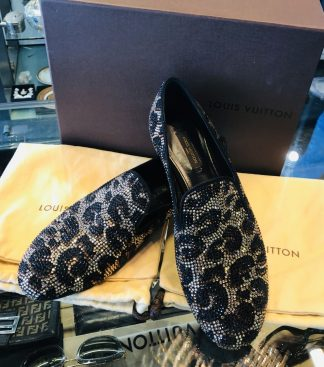 Louis Vuitton Leopard Print Sequence Shoes RRP $2390