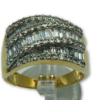 18ct Yellow Gold & Diamond Designer Ring