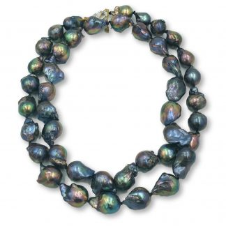 Peacock Freshwater Baroque Pearl Necklace