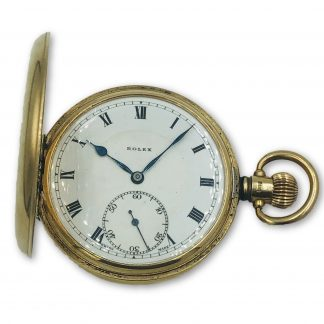 1926 Rolex 9ct Yellow Solid Gold Hunter Pocket Watch