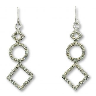 14ct White Gold Diamond Drop Earrings with Valuation