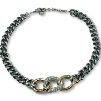 Swarovski Crystal Chainlink Choker Necklace