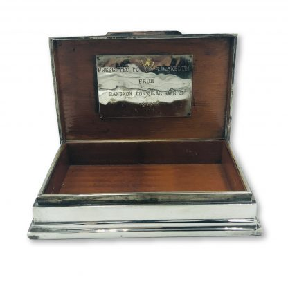 Vintage Siam Sterling Silver Jewellery Box