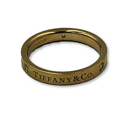 Tiffany & Co 18ct Rose Gold 3 Diamond Ring