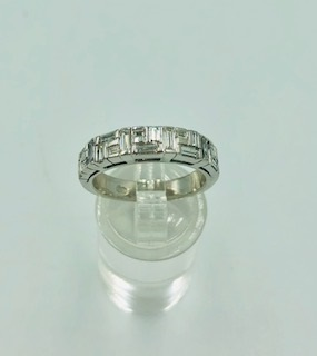 CANTURI 18ct White Gold Diamond Bridal Ring Set With Valuation