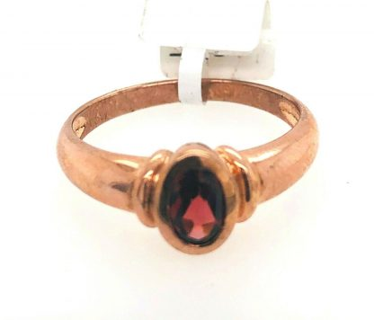 9ct Yellow Gold Garnet & Pearl Ring