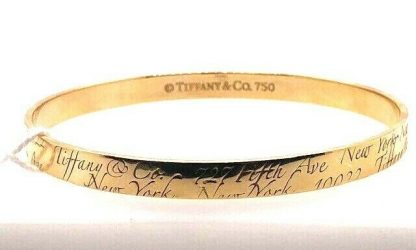 Tiffany & Co 18ct Yellow Gold 'Large Notes' Bangle